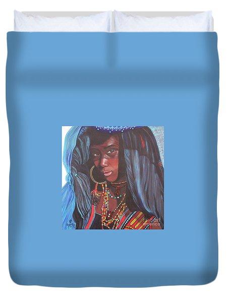 Wodaabe Girl Duvet Cover