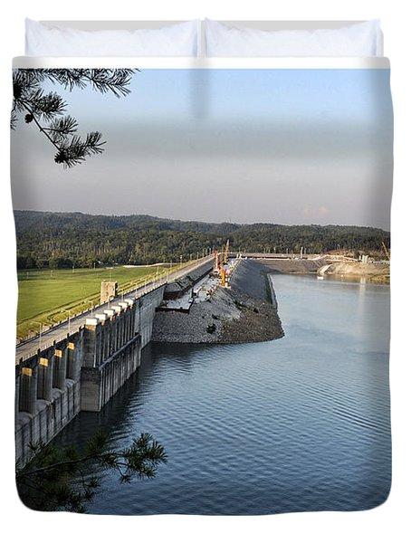 Wolf Creek Dam Duvet Cover