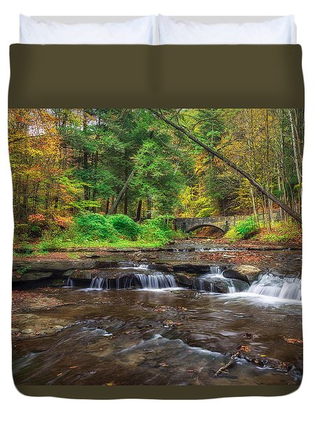 Wolf Creek Duvet Cover by Mark Papke