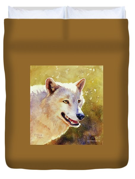 Wolf In Morning Light Duvet Cover