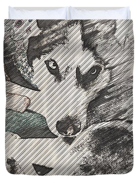 Wolf Is Beautiful Duvet Cover