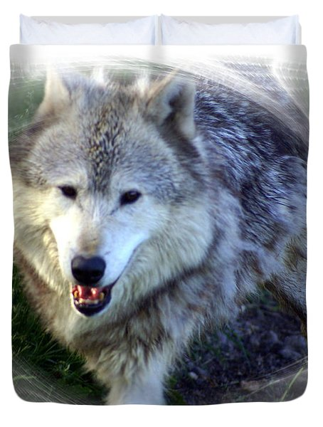 Wolf Duvet Cover by Marty Koch