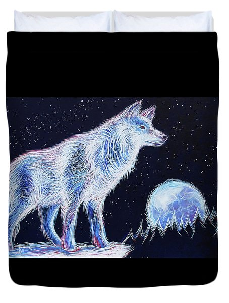Wolf Moon Duvet Cover