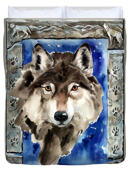 Wolf Duvet Cover by Nadi Spencer