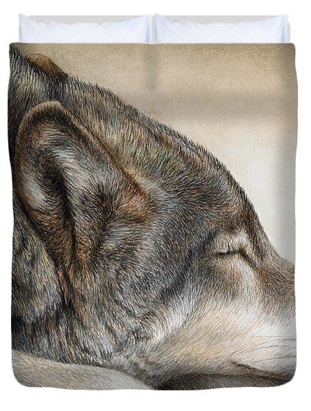 Wolf Nap Duvet Cover