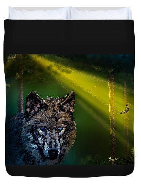 Wolf Of The Dark Wood Duvet Cover by J Griff Griffin