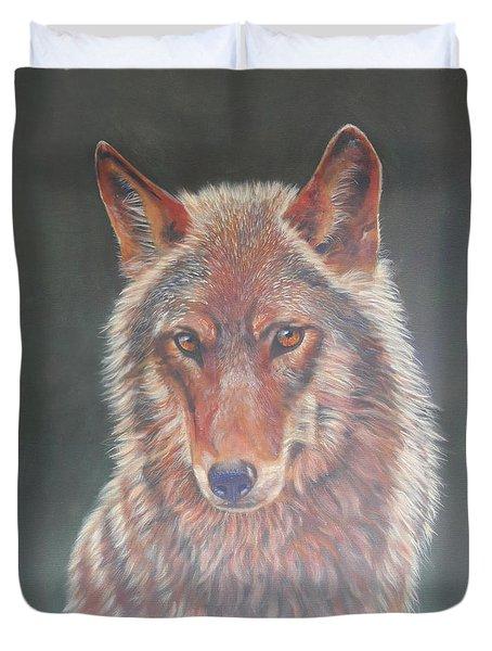 Wolf Portrait Duvet Cover