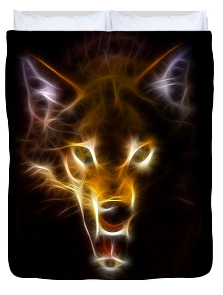 Wolf Ready To Attack Duvet Cover