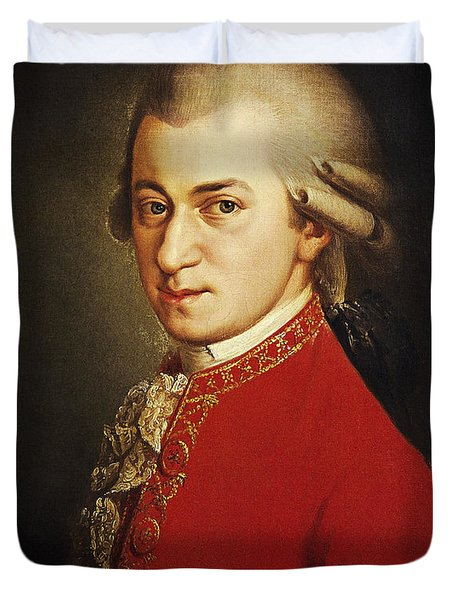 Wolfgang Amadeus Mozart, Austrian Duvet Cover by Photo Researchers