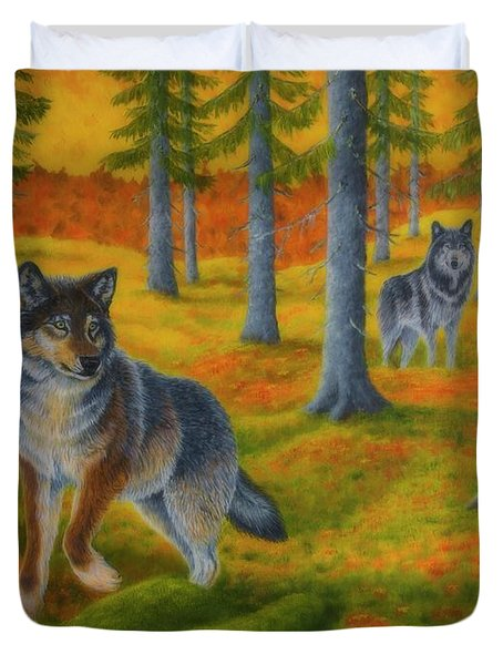 Wolf's Forest Duvet Cover
