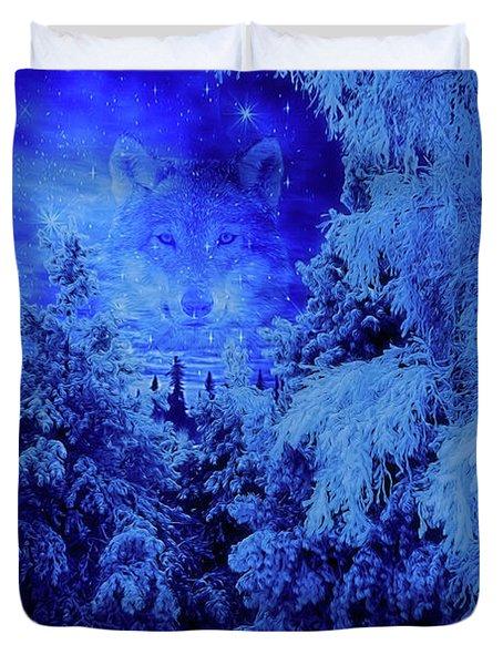 Wolf's Night Duvet Cover