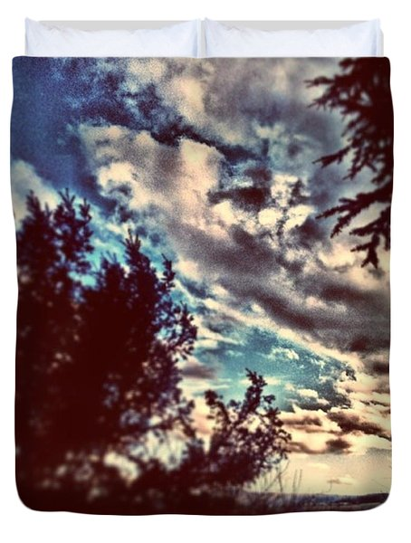 Wolken über #wetzlar #follow Duvet Cover