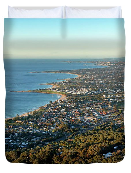 Duvet Cover featuring the photograph Wollongong by Nicholas Blackwell