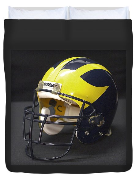 Wolverine Helmet From The 1990s Duvet Cover