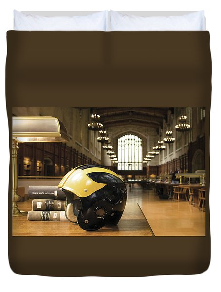 Wolverine Helmet In Law Library Duvet Cover