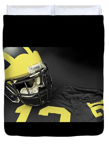 Wolverine Helmet With Jersey Duvet Cover