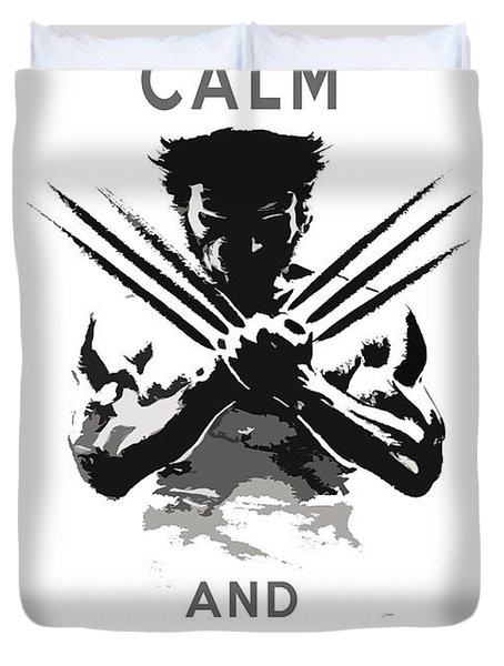 Wolverine Keep Calm Duvet Cover