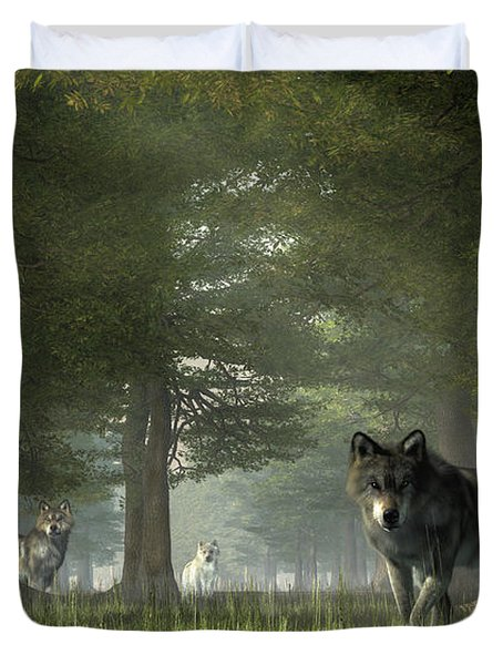 Wolves In The Forest Duvet Cover