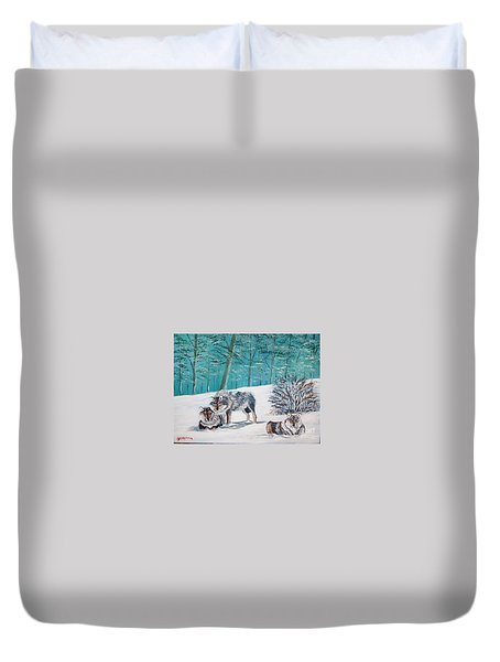Wolves In The Wild Duvet Cover