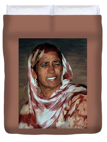Woman A Struggler Duvet Cover