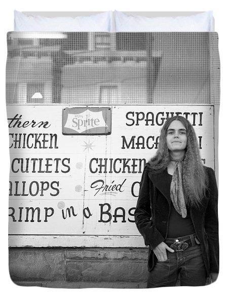 Woman Contemplates Scallops, 1972 Duvet Cover