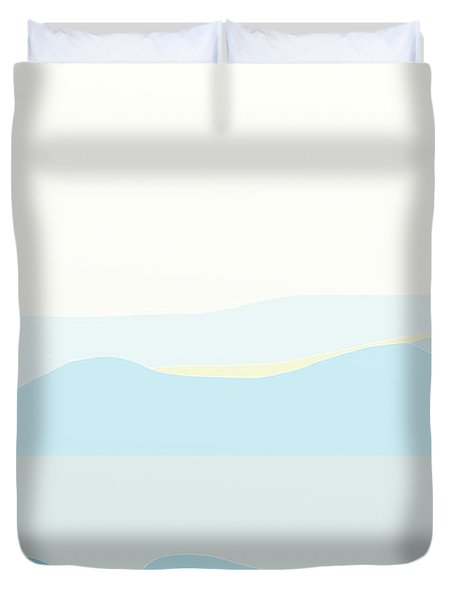 Woman In Blue Duvet Cover