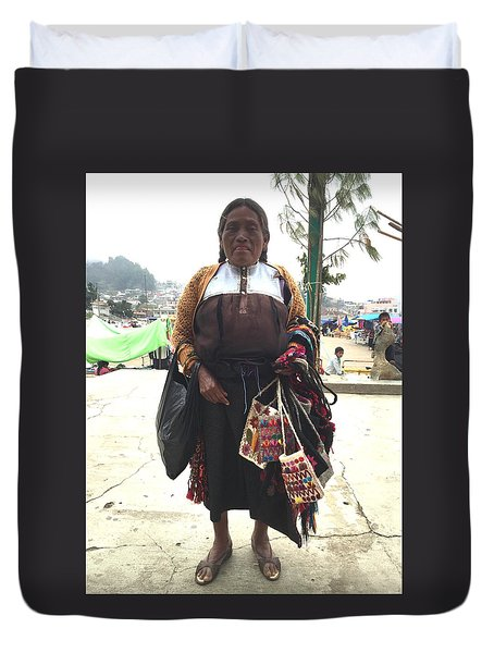 Woman In Chiapas. Duvet Cover