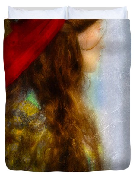 Woman In Medieval Gown Duvet Cover by Jill Battaglia