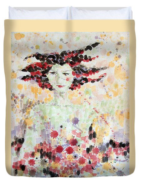 Woman Of Glory Duvet Cover