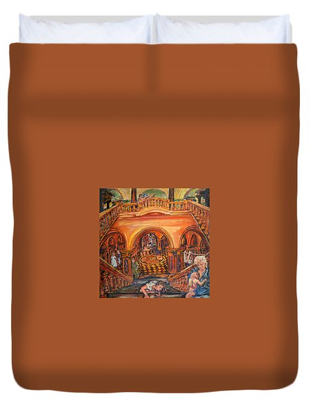 Woman's Place In Society Duvet Cover