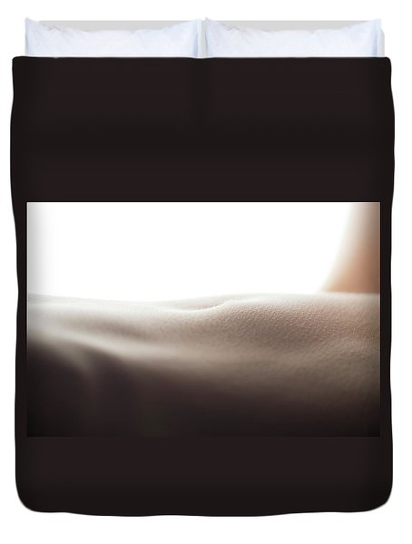 Womans Stomach Duvet Cover