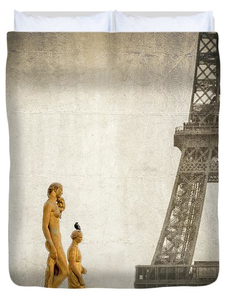 Women Of Paris Duvet Cover