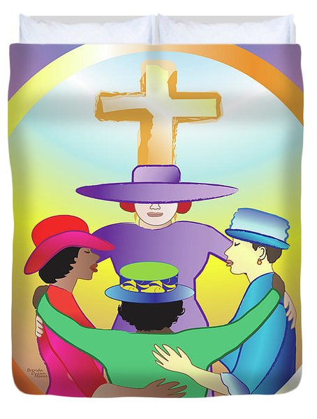 Women's Circle Of Faith Duvet Cover