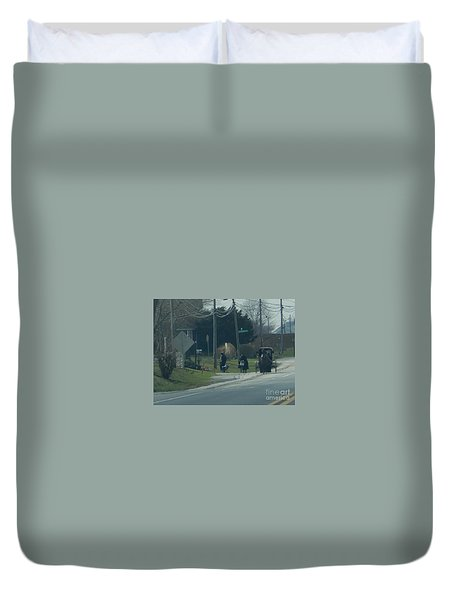 Women's Day Out Duvet Cover