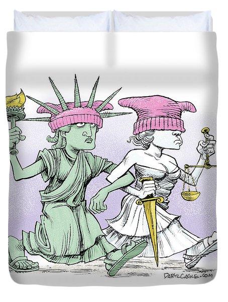 Women's March On Washington Duvet Cover