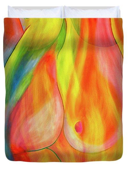Women's Shapes 3 Duvet Cover