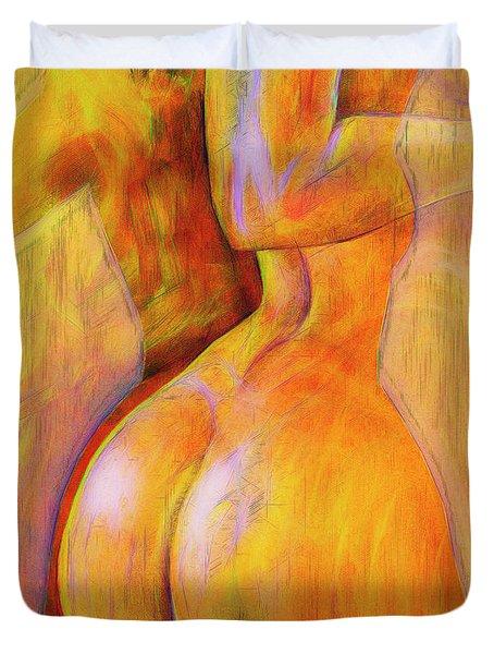 Women's Shapes 4 Duvet Cover