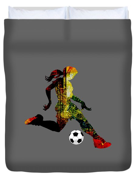 Womens Soccer Collection Duvet Cover