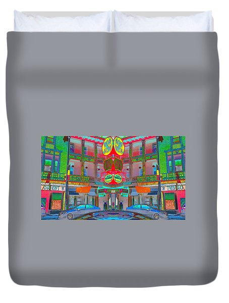 Duvet Cover featuring the photograph Won Kow, Wow 1 by Marianne Dow
