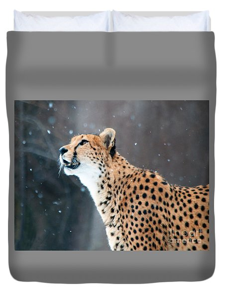 Wonder Of Snow Duvet Cover by Lula Adams