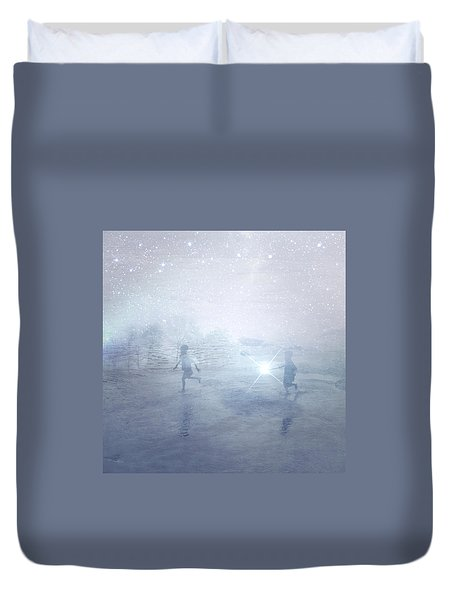 Wonder On A Starry Night Duvet Cover