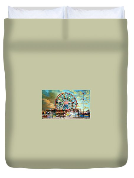 Wonder Wheel Duvet Cover