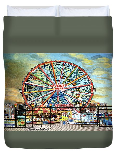 Wonder Wheel Image For Towel Duvet Cover
