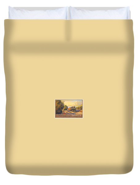 Wonderful California Duvet Cover by Nostalgic Prints