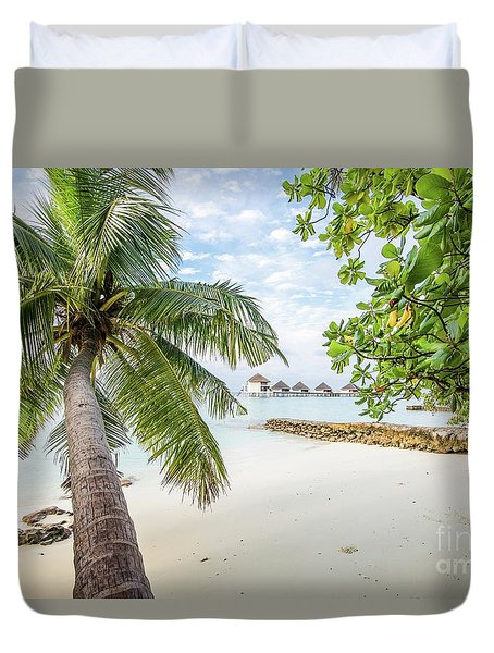 Duvet Cover featuring the photograph Wonderful View by Hannes Cmarits