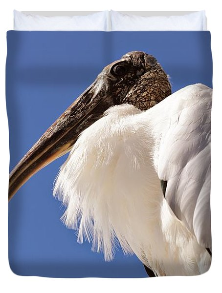 Wonderful Wood Stork Duvet Cover by Carol Groenen