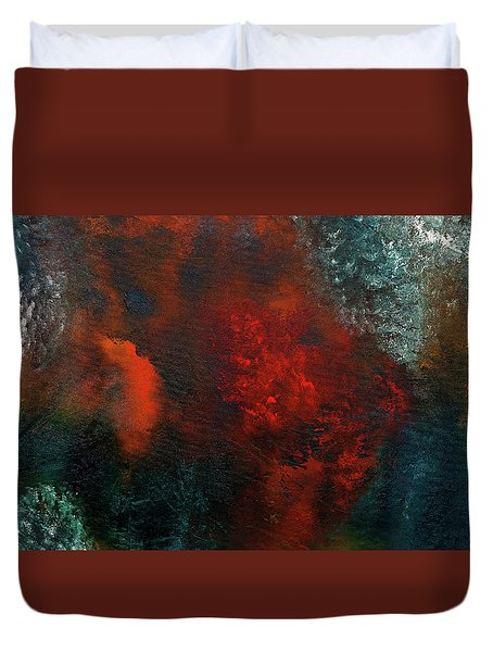 Duvet Cover featuring the painting Wonderland by Carmen Guedez