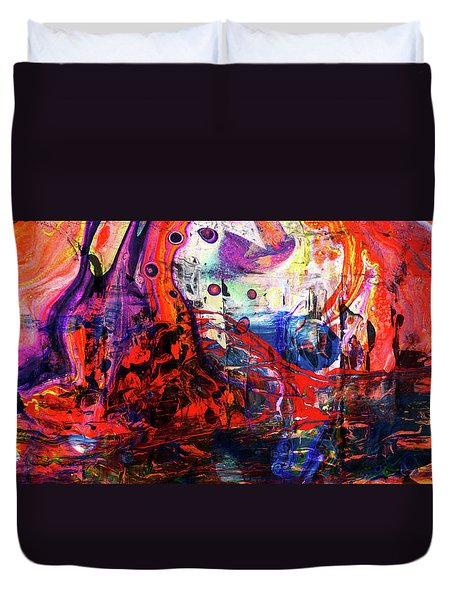 Wonderland - Colorful Abstract Art Painting Duvet Cover