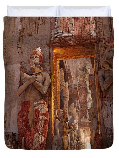 Wonders Door To The Luxor Duvet Cover
