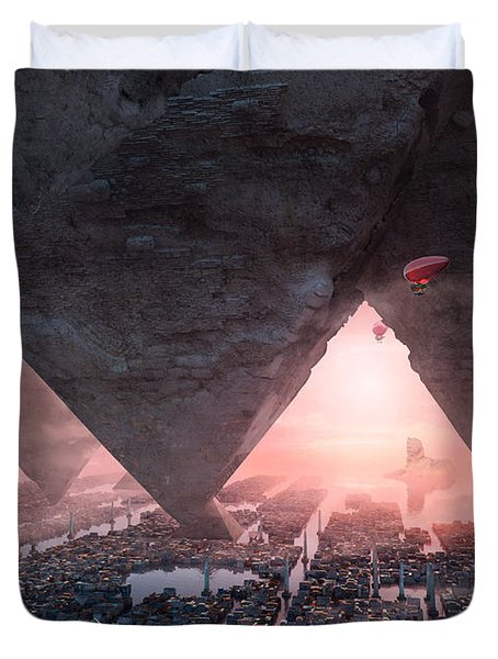 wonders great pyrimaid of Giza Duvet Cover